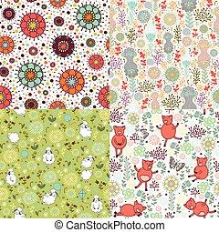 patrones, conjunto, naturaleza