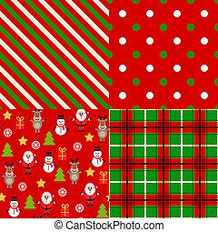 patrones, conjunto, navidad