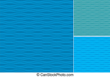 patrones, conjunto, ondas
