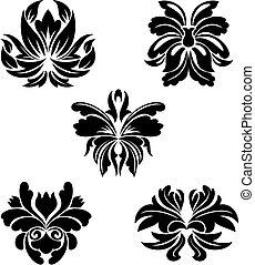 patrones, flor
