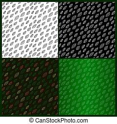 patrones, fondos diferentes, hojas