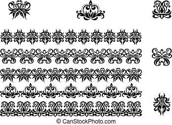 patrones, fronteras, flor