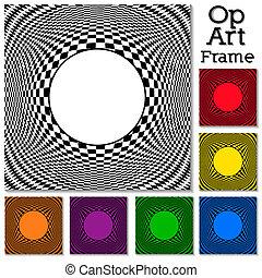 patrones, marco, op, arte, diseño