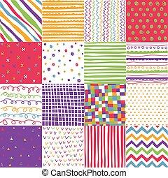 patrones, textura, tela, colorido, seamless