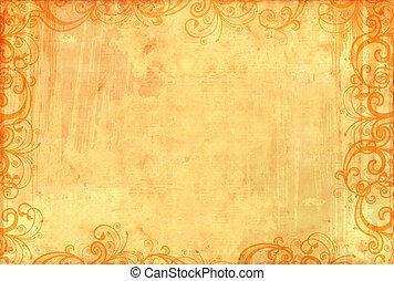 patrones, viejo, textured, floral, papel pintado