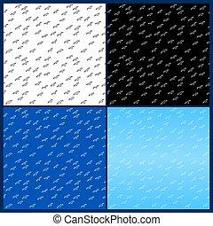 patrones, vuelo, grupo, seamless, aves