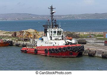 patrouille, secours, côte, eau, garde, mer, orange, ou, bateau