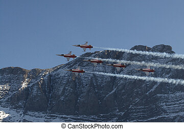 Patrouille Suisse - Roger Federer-Formation ( shape of a...