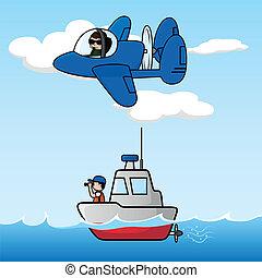 patrouille, zee lucht