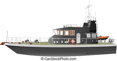 patrouille, zee, scheepje