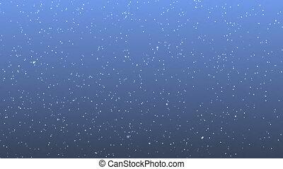 patrticle, résumé, neige, fond, boucle