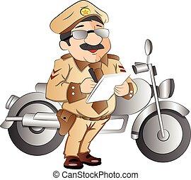 patrulla carretera, ilustración