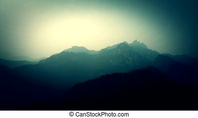 patrząc, ablegry, góry., dookoła