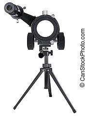 patrząc, astronomia, przez, teleskop