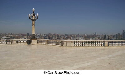 patrząc platforma, w, baku, azerbejdżan