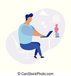 patrząc, praca, pojęcie, ilustracja