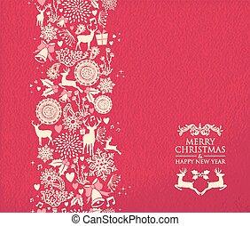 patt, vrolijk, jaar, nieuw, kerstmis, vrolijke