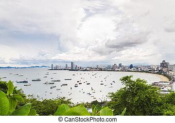 Pattaya city bird eye view point, Thailand