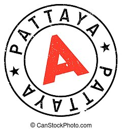 Pattaya stamp. Grunge design with dust scratches. Effects can be easily removed for a clean, crisp look. Color is easily changed.