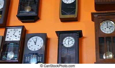 PATTAYA, THAILAND - DECEMBER 23, 2017: Many different clock...