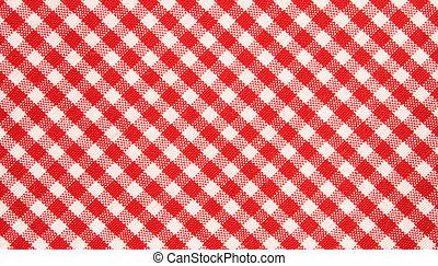 patte, cuadrícula, red/white