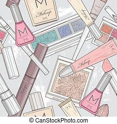 patten, maquillage, seamless, cosmétique