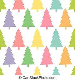 pattern., árvores natal