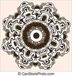 pattern., レース, デリケートである, 円, ラウンド, 装飾用