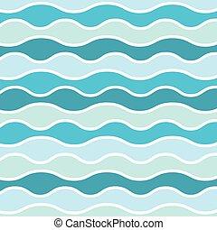 pattern-, 海, 波, ベクトル, mairne, イラスト