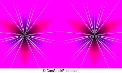 Pattern - a shamrock - On a pink background the pattern...