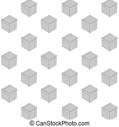 Pattern Abstract Black Cube Design Vector Image
