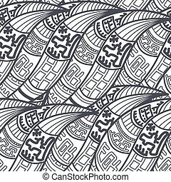 pattern., abstratos, seamless, étnico