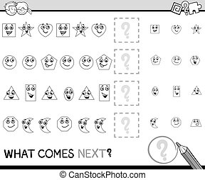 pattern activity coloring book