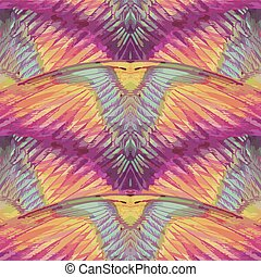 pattern., ailes, ou, seamless, multicolore, grand, feathers.