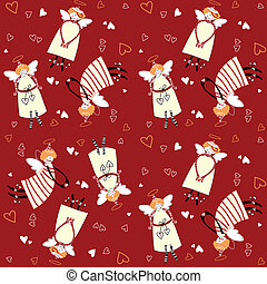 pattern-angels-with-hearts
