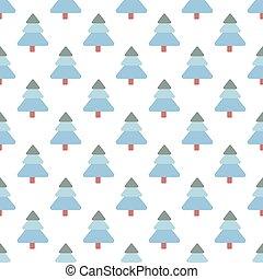 pattern., bäume, winter, wald, landschaftsbild, hintergrund., weihnachten, kiefer, seamless