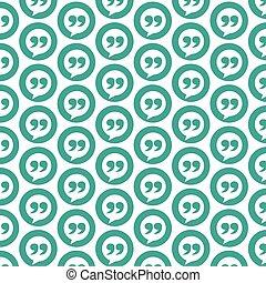 Pattern background Blockquote sign icon