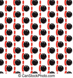 Pattern background bowling icon