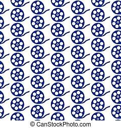 pattern background Film Reel Icon