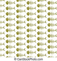 Pattern background Fish skeleton icon