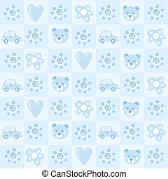 Pattern background for baby boy