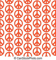 Pattern background Hippie Peace Symbol icon