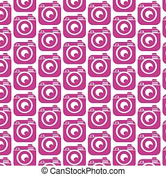 Pattern background Hipster camera photo icon