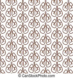 Pattern background Lungs icon