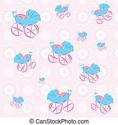 pattern background of baby walker