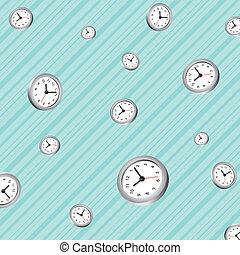 pattern background of clocks