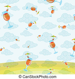 pattern background of cocktail
