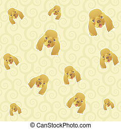 pattern background of dog face