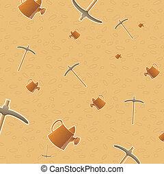 pattern background of gardening tools