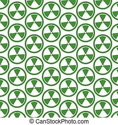 Pattern background Radioactivity sign icon